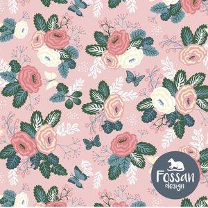 Floral butterflies pink